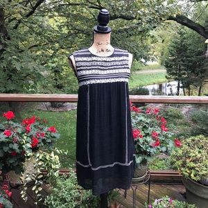Anthro Vanessa Virginia Classy Black/White Dress